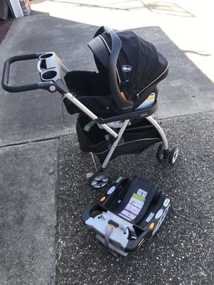Chicco keyfit zip caddy, car seat and 2 bases for Sale in San Lorenzo, CA