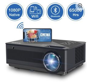 """FANGOR Native 1080P Projector,Full HD Movie Projector With 250"""" Dispaly,Ideal For Home Theater(Support For Business Use) for Sale in Miami, FL"""