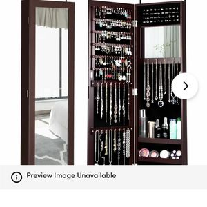 Mirrored Jewelry Cabinet Storage Organizer for Sale in Washington, DC