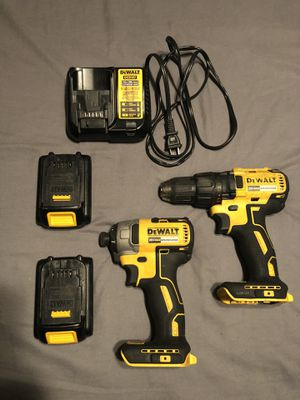 DeWalt 20V Drill and Impact w/ 2 batteries 1.3 Ah and charger for Sale in New Port Richey, FL