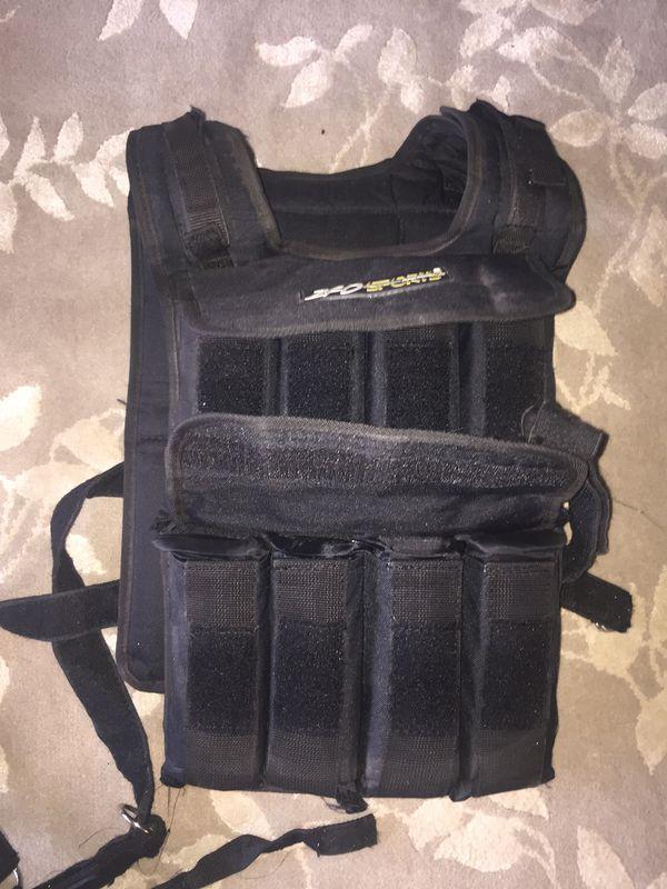 Weighted vest - adjustable weights