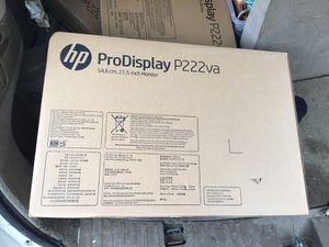 Hp pro display p222va monitor for Sale in Buffalo, NY