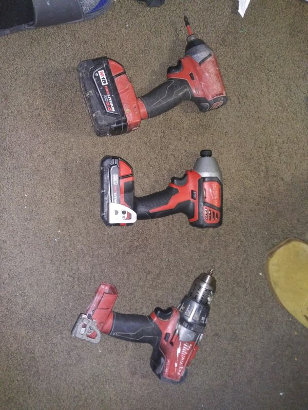 Milwaukee 18 volt impacts and drill.
