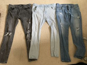 Jeans Bundle Size 34 Straight Skinny for Sale in Washington, DC