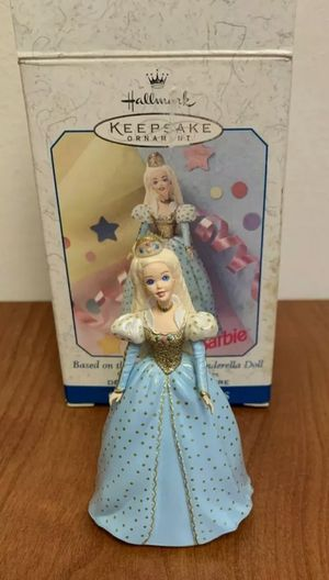 Hallmark Ornament 1999 BARBIE as Cinderella Doll #3 Children's Collector Series for Sale in Wood Dale, IL