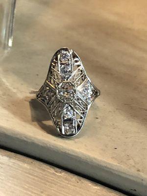 Platinum natural diamonds ring for Sale in Clovis, CA