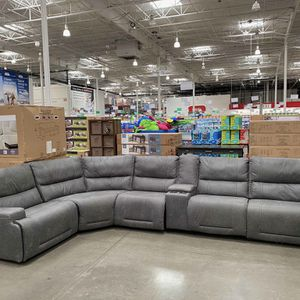CLEARANCE | COSTCO 5-Piece Fabric Power Reclining Sectional, Gray | NEW | 🔥$50 DOWN for Sale in San Diego, CA