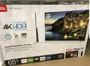 "65"" TCL UHD 4K HDR ROKUTV for Sale in Ontario, CA"