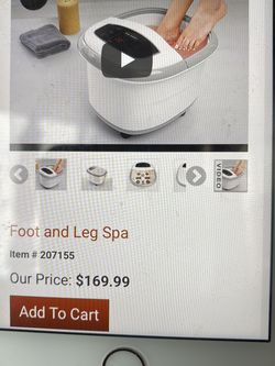 A perfect brand new foot spa never been use for Sale in Southfield,  MI
