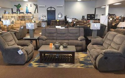 Tulen Chocolate Reclining Sofa and Loveseat for Sale in Irving,  TX