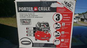 6 Gal. 150 PSI Portable Electric Air Compressor 16 & 18-GA Nailer & 3/8 in. Stapler Combo Kit (3-Tool) w/ Framing Nailer for Sale in Murfreesboro, TN