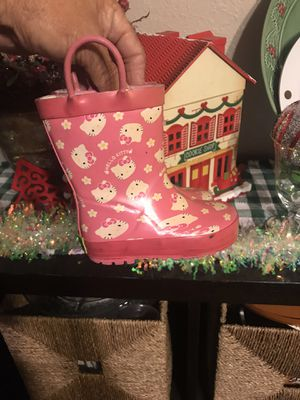 Hello Kitty 🌧 Rain Boots Size 5/6 Toddler for Sale in Chula Vista, CA