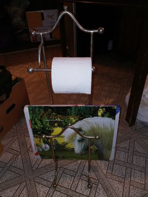 Cute toilet paper holder/ magazine rack for Sale in Santa Ana, CA