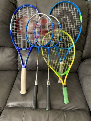 Tennis and Badminton Rqckets for Sale in Henrico, VA