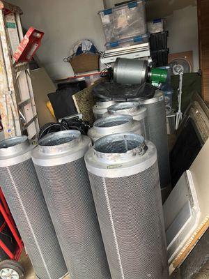 Lot of Indoor Hydroponic Equipment Lighting, Tools, Fittings, 1000 watt Ballasts, Light Fixtures, HPS 1000 watt Bulbs, Carbon Filters, and More!!!! for Sale in Miami, FL