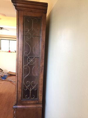 Hardwood Armoire with Decorative Ironwork for Sale in Phoenix, AZ
