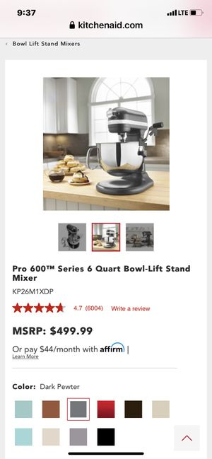 KitchenAid Pro 600 Series 6 Quart Bowl-Lift Stand Mixer for Sale in Camas, WA