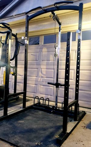 Half Squat Rack with Lat Pulldown seated Row Pulleys /Pull Up Bar impact IMPC985 for Sale in Saginaw, TX