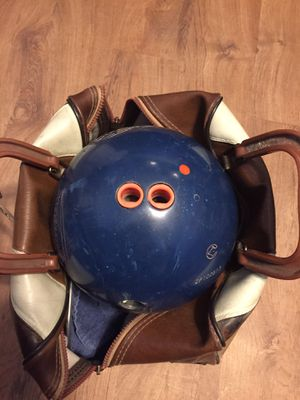 Bowling ball with bag for Sale in Fayetteville, AR