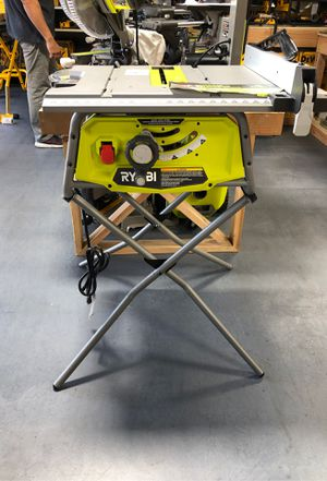 "RYOBI 10"" Table Saw with Stand for Sale in Garden Grove, CA"