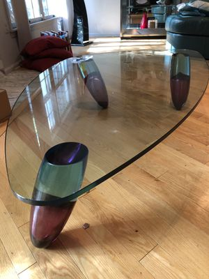 Custom Made Contemporary Murano Glass Coffee Table for Sale in Princeton, NJ