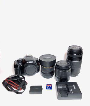 Canon rebel T3 camera and accessories for Sale in Chino Hills, CA
