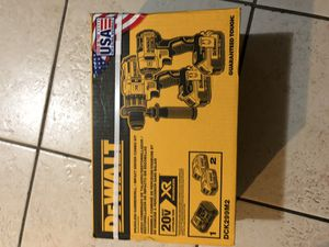Dewalt 20V XR brushless impact driver and hammer drill for Sale in Haines City, FL