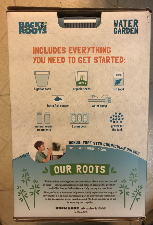 Back to the Roots- hydroponic garden kit. New.