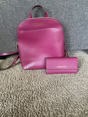 Micheal Kora back pack and wallet for Sale in Tacoma, WA