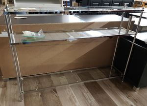 NEW 3 Tier Glass & Chrome Console Sofa Table: njft livingrm for Sale in Burlington, NJ