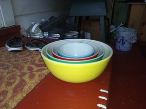 Vintage colored pyrex mixing bowls for Sale in Mount MADONNA, CA