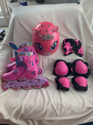 Girls shopkins Roller Blades size 30-33 for Sale in Miami, FL