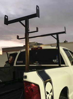 New in box side mount 400 lbs weight capacity commercial contractor pickup trucks bed universal adjustable holds 3 ladder heavy duty truck rack for Sale in Covina, CA