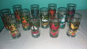 12 days of Christmas collectable glasses for Sale in Brook Park, OH