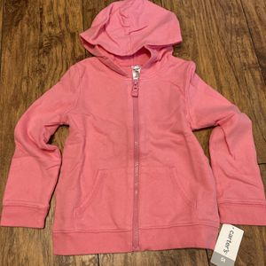 Carter's 5T Pink Zip Up Hooded Sweatshirt, NWT for Sale in San Diego, CA