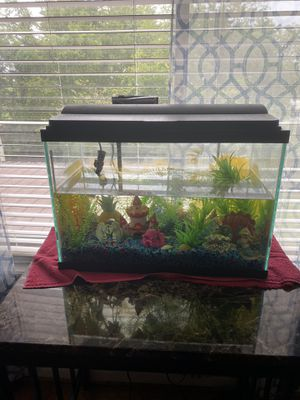 Fish 🐠 tank with a lot of figures for Sale in Nashville, TN