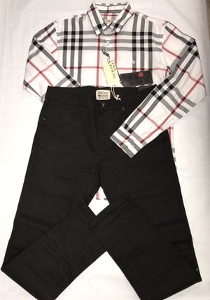 L/S Burberry Button Down shirt.. w/Jet Black Skinny Jeans .. 'Sold together or separate' for Sale in Marrero, LA