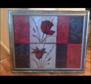 Glass Framed Floral Picture for Sale in South Jordan, UT