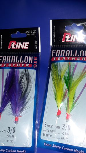 PLine feathers for fishing 2 hook size 3/0 for Sale in Fresno, CA