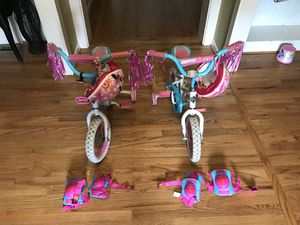 Girls bikes, Helmets, knee pads and elbow pads, and toy quads for Sale in Mableton, GA