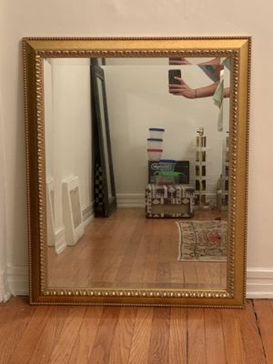Gold Wooden Framed Mirror for Sale in Los Angeles, CA
