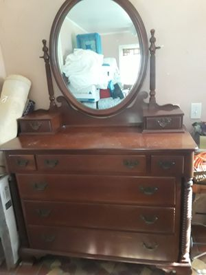 Antiques. Dresser with Mirror & Twin Beds Wood for Sale in Dania Beach, FL