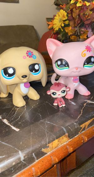 "Lps Rare Jumbo 5"" Tan Dog and Cat for Sale in Moreno Valley, CA"