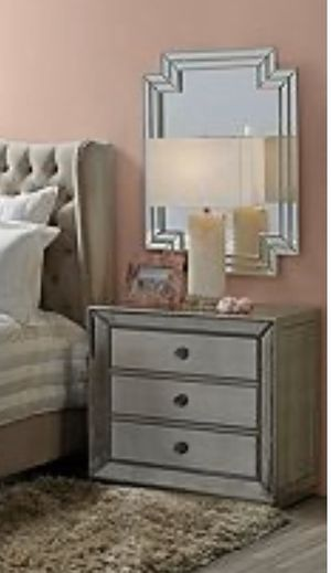 ZGallerie Omni Mirrored 3 Drawer Nightstand for Sale in Los Angeles, CA