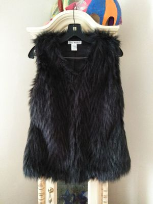 BROWN FAUX FUR VEST SZ M BY SAY WHAT for Sale in Forest Park, IL
