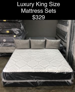 Luxury King Size Mattress Sets (New) Same Day Delivery & Financing Available for Sale in Atlanta, GA