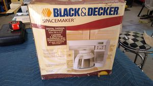 Black and Decker space saver coffee maker. for Sale in Moreno Valley, CA