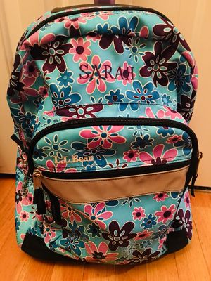 """L.L. Bean Girls Monogrammed """"Sarah"""" Rolling Backpack/luggage for Sale in Natick, MA"""