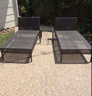 Rattan wicker chairs 5ft long for Sale in Katy, TX