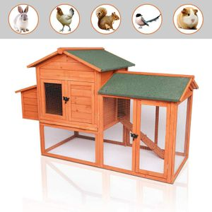 """Potby 41"""" chicken coop Deluxe wooden rabbit Hutch Pet Cage Shelter Hen House with waterproof Roof Ladder and Egg Box for Sale in Houston, TX"""